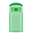 plastick dumpster waste sorting vector image vector image