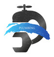 plumbing faucet and wrench vector image