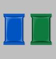 Polymer packaging set vector image
