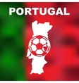 Portuguese Abstract Map vector image