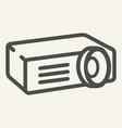 projector line icon film projector vector image
