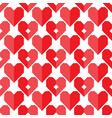 seamless geometric heart pattern vector image