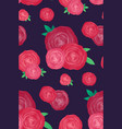 seamless texture with roses on a dark background vector image vector image