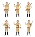 Set of Safari Hunters vector image