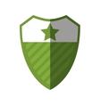shield security isolated icon vector image vector image