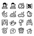 sleep icon set vector image vector image