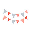 small red and blue flags vector image