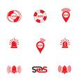 sos icon design vector image