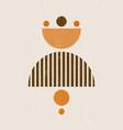 sun print boho minimalist printable wall art vector image vector image