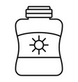 sun protection cream jar icon outline style vector image