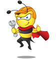Super Bee Holding Spanner vector image vector image