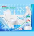 toilet detergent cleaner bathroom soap liquid vector image vector image