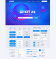 ui kit for websiteui kit for website temlate vector image vector image