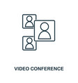 video conference icon monochrome style design vector image vector image