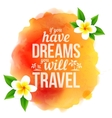 Watercolor style orange stain with sign and vector image vector image