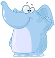 elephant waving vector image