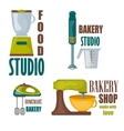 Collection of vintage retro bakery badges and vector image
