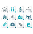 stylized medicine and healthcare icons vector image