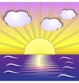 abstract sea sunrise scene vector image