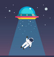 astronaut man abducted ufo vector image