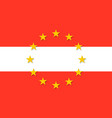 austria national flag with a circle of eu vector image
