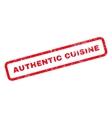 Authentic Cuisine Text Rubber Stamp vector image vector image