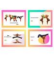 brazil carnival capoeira dancer landing page set vector image vector image