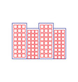 buildings city skyline icon image vector image