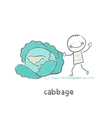 Cabbage and people vector image vector image