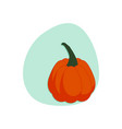 cartoon pumpkin isolated vector image vector image