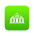 casino building icon digital green vector image