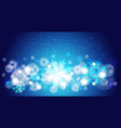 christmas background bokeh bright snowflakes vector image