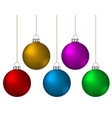 christmas balls decoration color ornament vector image vector image