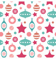 Christmas toys balls and baubles seamless pattern vector image vector image