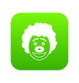 clown head icon digital green vector image