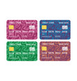 credit cards set multicolor template with vector image vector image