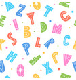 cute cartoon letters seamless pattern colorful vector image vector image