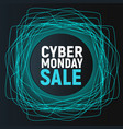 cyber monday sale abstract poster blue promo vector image