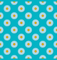 daisies on blue background seamless pattern vector image