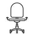 desk chair icon outline style vector image vector image