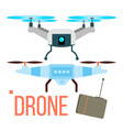 drone remote aerial quadcopter photo vector image