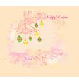 Easter Egg On floral Background vector image vector image