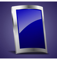 Empty Rectangle Shape Metal Shield vector image vector image