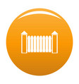 fence with turret icon orange vector image