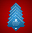 fir tree infographics Modern design template vector image vector image