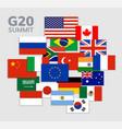 g20 country flag mexico usa canada g20 vector image