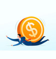 getting pressed by currency vector image