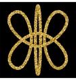golden glittering logo template vector image vector image