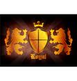 grunge gold emblem vector image vector image