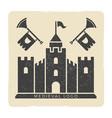 grunge medieval castle logo design vector image